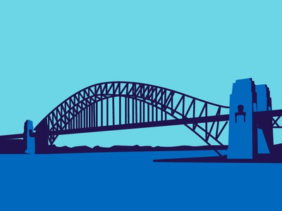 Sydney Harbor Bridge bridge sydney illustrator