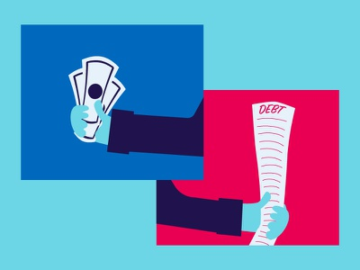 Money & Debt debt illustrator money