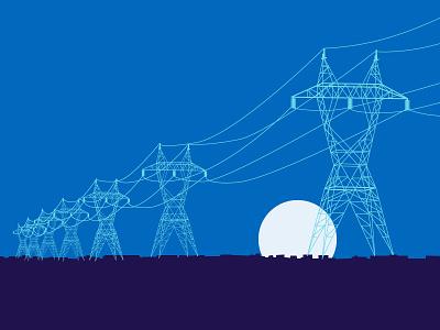 Power Lines illustrator power lines