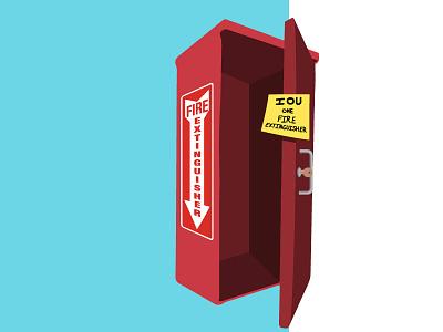 IOU Fire Extinguisher iou fire extinguisher illustrator