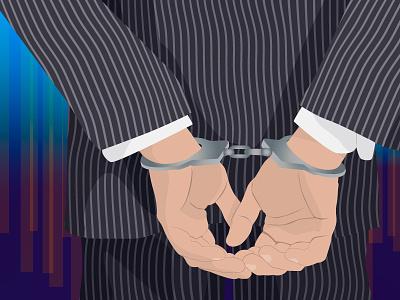 Handcuffs suite hands handcuffs illustrator