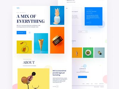 Mix Landing Page service about home webpage design ui design dashboard e-commerce landing page landing typography branding debut minimal app ux color website web ui