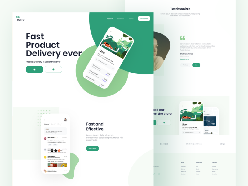 App Landing Page typogaphy ui  ux ui design couries delivery travel minimal application uidesign app showcase app landing app design mobile landing website web design ux ui app