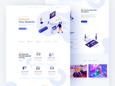 SEO Landing Page creative agency user interface seo agency services design landing page webdesign landing seo logo typography illustration minimal app color ux website web ui