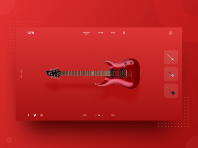 GTR Home Page Design Concept
