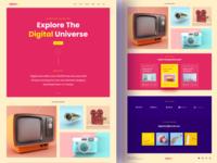 Digital Arts Landing Page