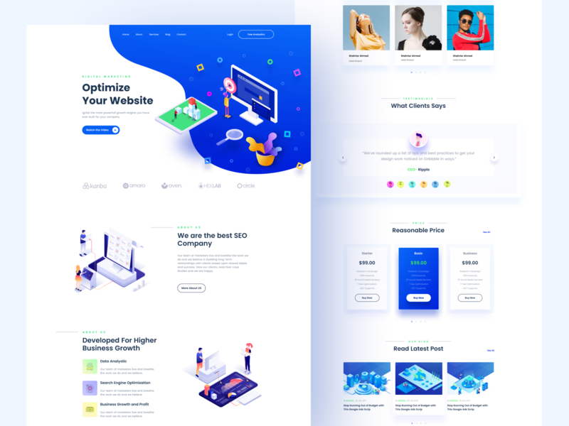 SEO Landing Page color icon illustration typography minimal branding user interface ux ui design uidesign ui  ux ui website design web design webdesign website web landing design landin seo