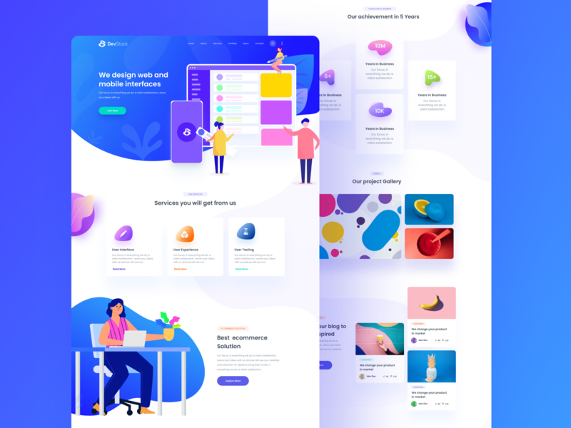 Creative Agency Landing Page animation branding debut typography logo dashboard ui app illutration minimal clean color landing page website web creative agency agency landing page agency
