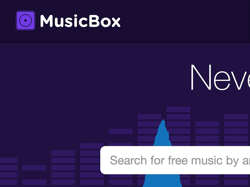 Made for TV - MusicBox ui website clean flat tv commercial