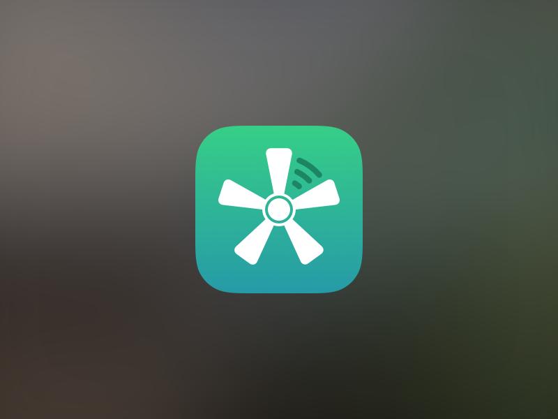 Swoosh App Icon apple fan blur sketch ios gradient interface app mobile ipad iphone icon