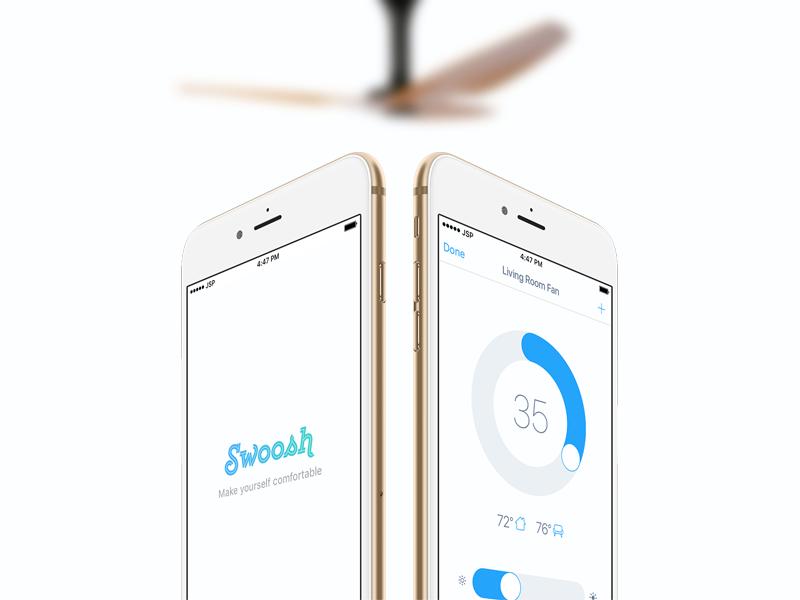 Swoosh Controls fan homekit iphone interface app ui mobile