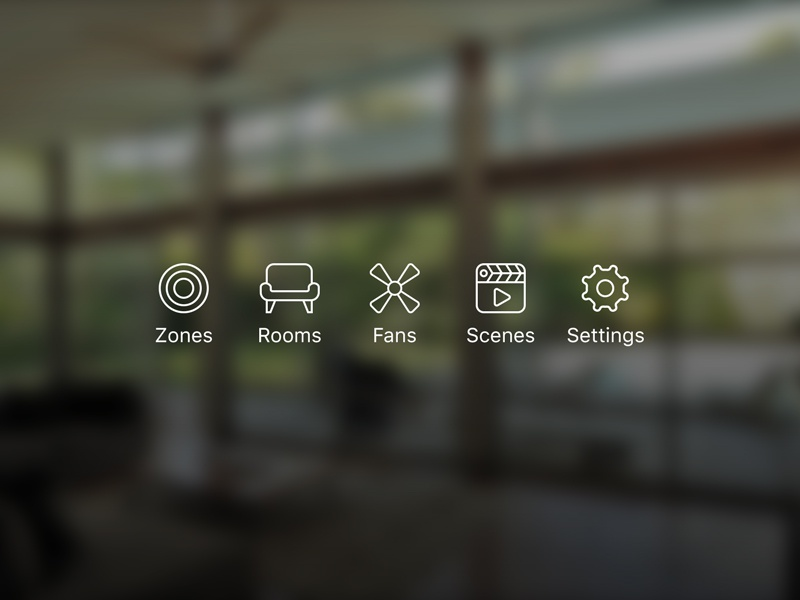 Swoosh Tab Bar Icons homekit fan iphone app ui icons mobile
