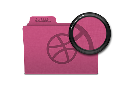 Dribbble Linen Folder Icon