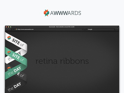 Awwwards Retina Demo Home retina responsive fluid html5 css3 keyframes animation ribbons browser noise ribbon banner