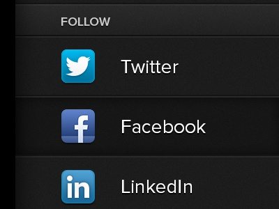 Mobile Slide-out View slideout nav navigation side nav mobile keyframe css3 social icons responsive rwd html5 twitter facebook linkedin noise