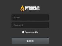PyroCMS 2.2 login