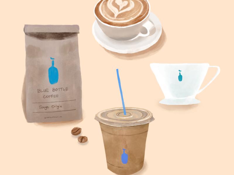 Blue Bottle Coffee procreate art illustration procreateapp illustration art artwork