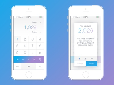 Just a Simple Calculator calculator simple clean design app ui ux mockup ignition labs fresno california