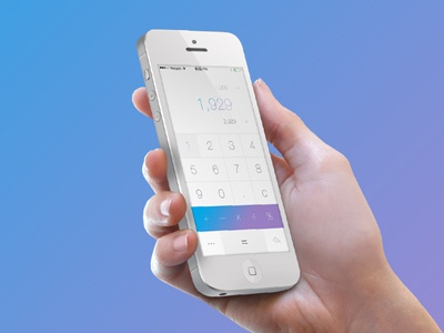 A Simple Calculator ignition labs calculator simple clean ios android gradient iphone hand fresno california
