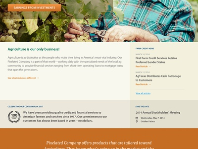 Ag Bank ag agriculture bank banking corporate responsive climacons web design web fresno ignition labs