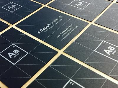 Adapt Academy branding logo card silver black hundred10 fresno engineering