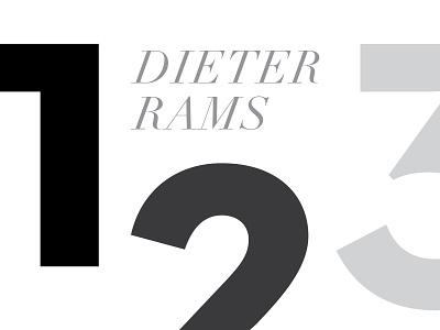 Happy Birthday Dieter birthday greyscale minimal design principles poster dieter rams