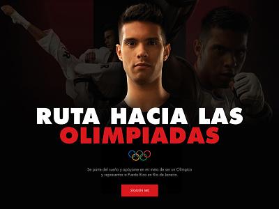 Athlete Site - WIP hundred10 hero athlete minimal responsive web design simple olympics wip
