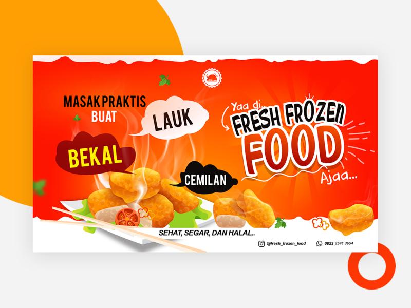 Frozen Food Banner Design - contoh desain spanduk