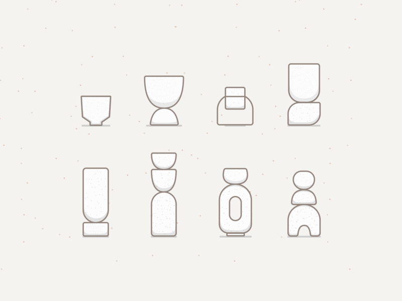 Ceramic Forms: Planters forms sketch linework simple minimal illustration pottery stoneware planters ceramics