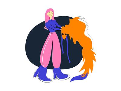 Say NO to fur graphic design art minimal vector ui illustration flat branding logo design