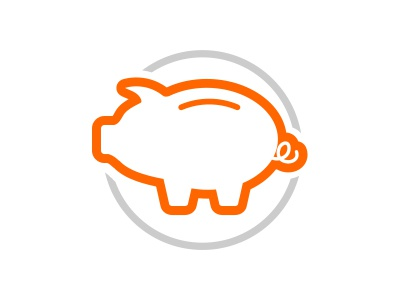 Little savings piggy pig icon