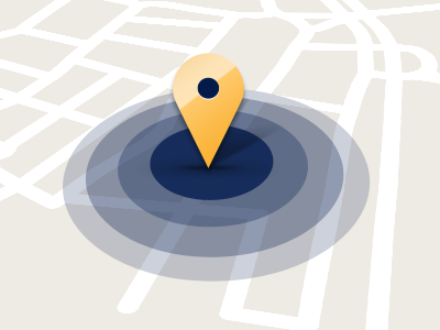 """""""Find us"""" icon map pin"""