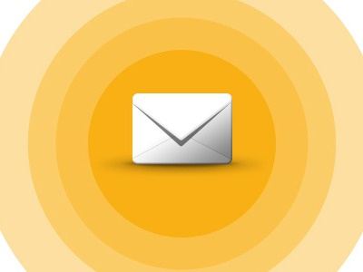 Message centre icon mail message icon target