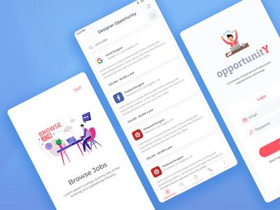 Opportunity UI Design job design app ui design ux dribbble opportunity