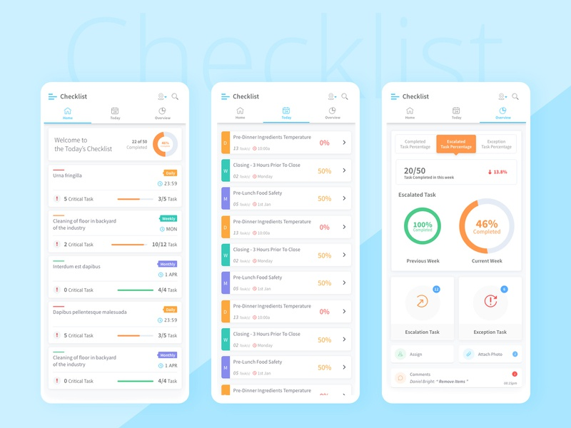 Checklist UI Design checklist concept branding applicaiton landing appstore design app dribbble ux ui design