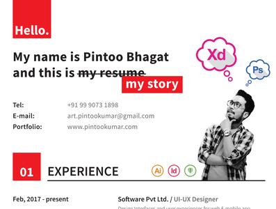 MyStory Resume Template branding template resume design
