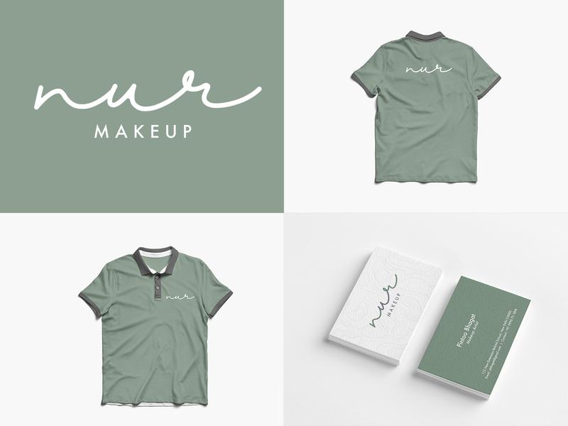 Nur Logo Design vector typography illustration branding logos logo print dribbble design