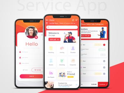 Service App service app trendy logo branding applicaiton dailyui appstore ux design app dribbble ui design