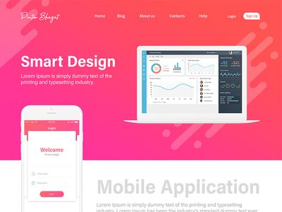 Landing page design design page landing