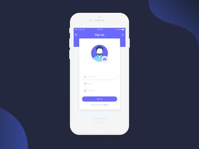 Sign up Screen design ux ui @daily-ui dailyui