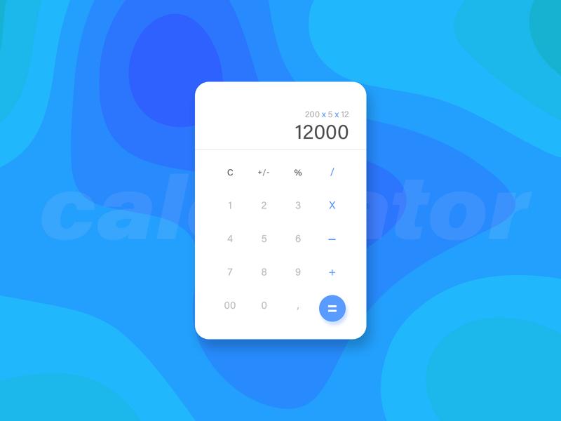 Calculator  #004 ui design @daily-ui dailyui