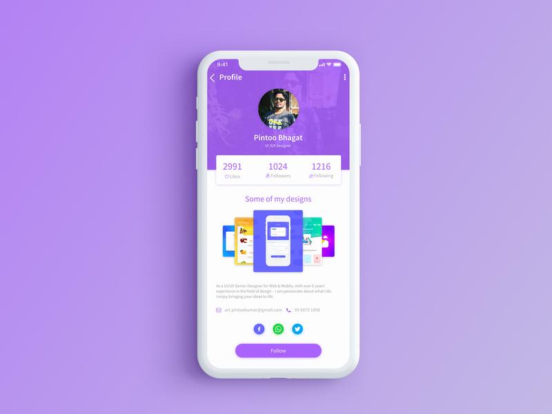 User Profile Interface  #006 design ui dribbble dailyui @daily-ui