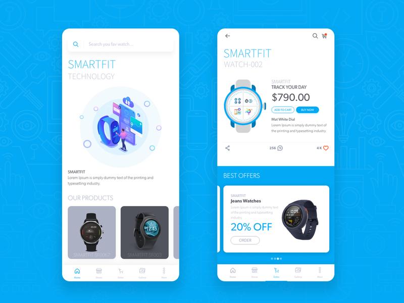 SmartFit Watch Shop App user interface smartfit applicaiton shopping app smartwatch uxdesign mobile ui dribbble appstore ui design