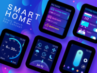 Smart Home App - Smart Watch App Concept