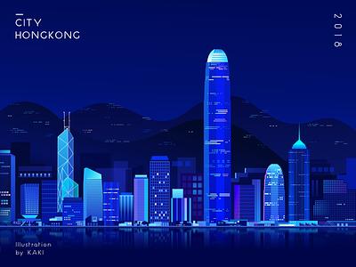 Hong Kong dark design illustration