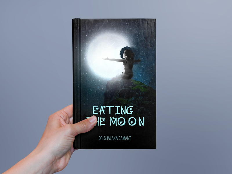 Eating The Moon Book Cover Design mom stories mom storyofmylife story story cover book reading mjdesigns kids stories kids book book cover design book