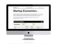 Startup Economics