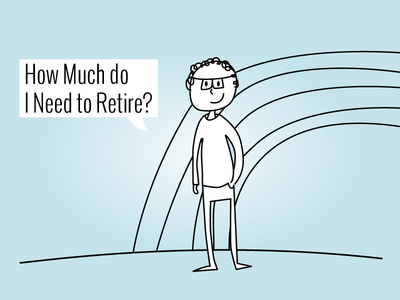 How Much do I Need to Retire cartoon illustration web design ui startup