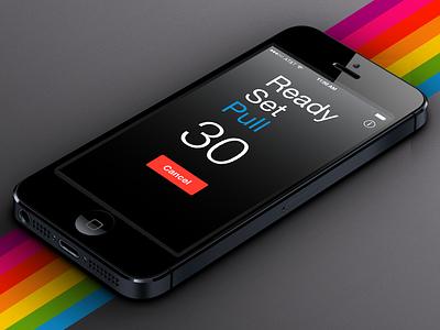 Polaroid Timer App flat mobile side project user interface user experience ui design ux design timer polaroid app ios
