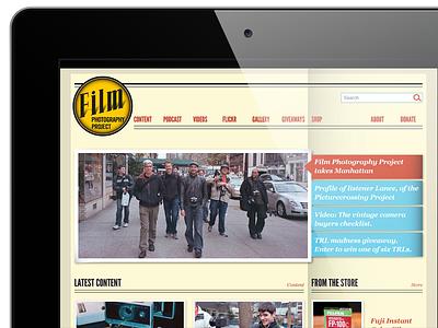 Film Photography Project podcast online store e-commerce web design retro ux ui web design website